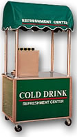 4′ Vending Cart with Fountain Drink Dispenser - Thumbnail