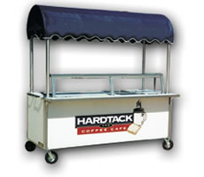 8′ Vending Cart with Serving Shelf / Glass Protector - Thumbnail