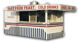 16′ Concession Trailer with Tall Ballycloth Skirting - Thumbnail