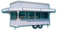 16′ Concession Trailer with Awning Marquee Signs - Thumbnail