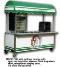 8′ Vending Cart with Refrigerated Display Case - Thumbnail
