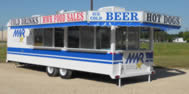 24′ Concession Trailer with Awning Trim - Thumbnail