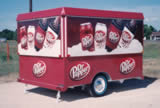 10′ Special Events Beverage Trailer with Dr Pepper Wrap Graphics - Thumbnail