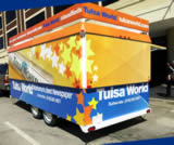 16′ Concession Trailer with Roof Marquee and Customer-installed Wrap Graphics - Thumbnail